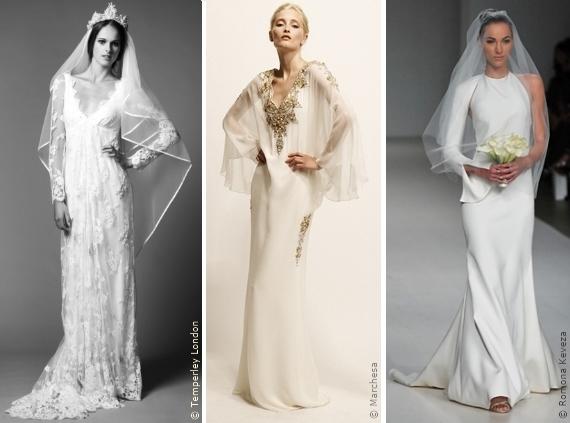 Wahl des Brautkleides: Das Langarmkleid, Die Silhouetten, Modetrends ...