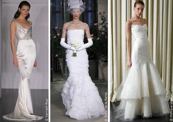 Wahl des Brautkleides: Das Meerjungfraukleid, Die Silhouetten ...