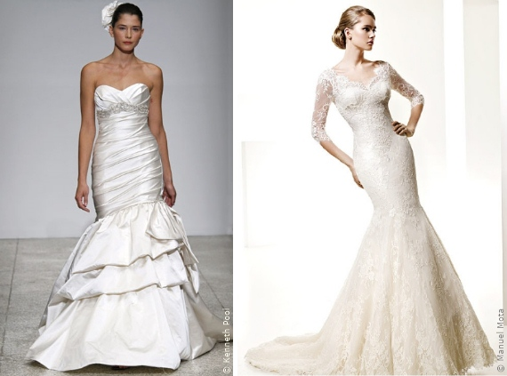 Wahl Des Brautkleides Das Meerjungfraukleid Die Silhouetten