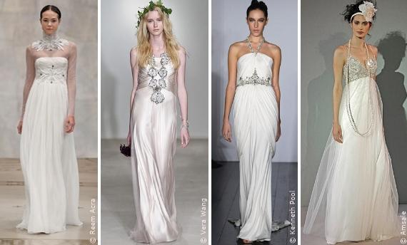 Wahl des Brautkleides: Die Schmuckdetails, Die Silhouetten ...