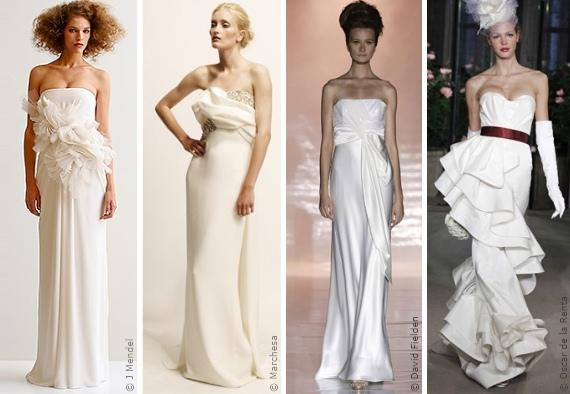 Wahl Des Brautkleides Das Schulterfreie Brautkleid Die Silhouetten